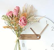 abordables -bouquet de roses artificielles bouquet de fleurs de mariée maison fleurs artificielles décor 9 pièces bouquet de fleurs