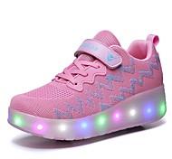 abordables -Garçon Fille Ballerines LED Chaussures Recharge USB Matière synthétique Paillettes de cristal scintillantes ornées de bijoux Grands enfants (7 ans et +) Quotidien Marche Lumineux Noir Rose Printemps