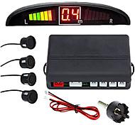 economico -a43 sistema radar di backup inverso del veicolo per auto con 4 sensori di parcheggio rilevamento della distanza display della distanza a led ronzio di avvertimento acustico
