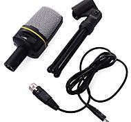 economico -microfono per registrazione a condensatore USB per PC cardioide registrazione in studio voce voce su microfono uscita per cuffie& controllo del volume