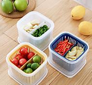 abordables -boîte de rangement de cuisine divisée pour réfrigérateur de cuisine spécial fruits et légumes égouttement gingembre ail