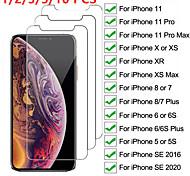 abordables -Protection Ecran Apple Verre Trempé iPhone 11 iPhone XR iPhone 11 Pro iPhone 11 Pro Max iPhone XS 1 pc Haute Définition (HD) Dureté 9H Coin Arrondi 2.5D Ecran de Protection Avant Film Vitre