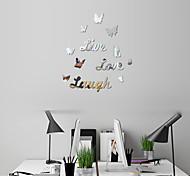 economico -farfalla 3d adesivi murali specchio decorazioni per la casa decalcomania di arte adesivi murali per camera dei bambini soggiorno decorazione murale decorazione 62 * 62 cm