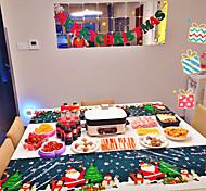 economico -5 pezzi tovaglia usa e getta rettangolo natalizio tovaglia natalizia da tavolo decorazione natalizia