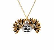 abordables -tu es mon collier gravé soleil pour maman collier médaillon tournesol (je t'aime jusqu'à la lune et au dos)