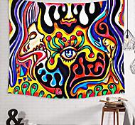abordables -tapisserie murale art décor couverture rideau pique-nique nappe suspendu maison chambre salon dortoir décoration polyester oeil abstrait visage humain