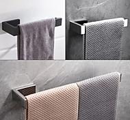 abordables -Porte-serviettes 304 en acier inoxydable mural salle de bain à tige unique noir mat et siverly 1pc