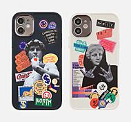 economico -telefono Custodia Per Apple Per retro iPhone 12 Pro Max 11 SE 2020 X XR XS Max 8 7 Resistente agli urti A prova di sporco Placcato Frasi famose TPU