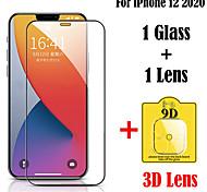abordables -2 en 1 verre trempé pour iPhone 12 11 Pro Max verre protecteur d'écran 9h lentille 3D verre trempé pour iPhone 11 Pro film de protection