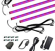 economico -ZDM® 4x1M Set luci Luci LED per la coltivazione Luce crescente 240 LED 5050 SMD 1Impostare la staffa di montaggio 1 cavo CA. 1 x adattatore 12V 3A 1 set 4 rosso + 1 blu 5Red + 1Blue 3red + 1Blue