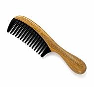 abordables -peigne à cheveux à dents larges fait à la main - peigne à démêler en corne de buffle en bois de santal vert 100% naturel pour femmes, hommes, cheveux épais, fins, bouclés, droits et ondulés (dent