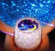 abordables -Projecteur de ciel étoilé coloré rotation de la lumière de la nuit lune étoilée lampe de nuit usb charge pour cadeau d'anniversaire romantique bébé enfants