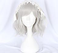 abordables -Non Argent Sweet Lolita Lolita Ōji (Style Garçon Manqué) Lolita Perruque Lolita  40 pouce Perruques de Cosplay Mode Perruque Perruques d'Halloween