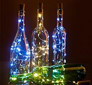 economico -luci a led per bottiglie di vino a forma di sughero decorazione fai da te 2m 20 led 10pcs 8pcs 4pcs 1pc luce colorata fata stringa per matrimonio festa di natale senza batteria