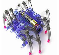 economico -ragno robot scienza laboratorio giocattolo assemblaggio giocattoli elettrici striscianti a blocchi compatibili regali di natale senza battary
