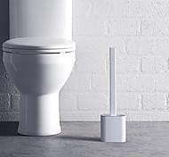 abordables -brosse de toilette en silicone avec base support de tête en caoutchouc brosse de nettoyage murale accessoires de salle de bain