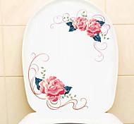 abordables -Stickers muraux floraux / botaniques belles fleurs stickers muraux autocollants de toilette pvc décoration de la maison sticker mural toilette / réfrigérateur décoration 1 pc 30 * 20 cm