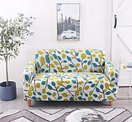 abordables -Housse de canapé imprimée feuille housse de canapé extensible housses de canapé pour 1 ~ 4 coussin canapé avec une taie d'oreiller gratuite