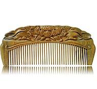 abordables -Peigne à cheveux en bois de santal naturel sculpté à la main - peigne à cheveux en bois de santal antistatique à barbe brosse râteau peigne à la main gravure lotus