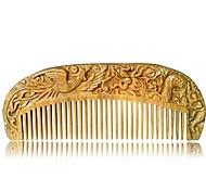 abordables -peigne à cheveux en bois de santal naturel sculpté à la main - peigne à cheveux en bois de santal antistatique à barbe brosse à râteau peigne à la main gravure dragon et phénix