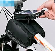 economico -ROCKBROS Borsa per cellulare Marsupio triangolare da telaio bici 6 pollice Logo riflettente Resistente all'acqua Ciclismo per iPhone X iPhone XR iPhone XS Nero Mountain bike Bicicletta