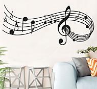 abordables -Sticker mural décor notes de musique mélodie mur chambre bureau noël musical mur porte fenêtre chambre décor maison décoration 24 * 58 cm