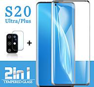 abordables -2 en 1 pour Samsung Galaxy S21 Ultra S21 Plus Verre de protection Samsung S20 Plus Protecteur d'écran Objectif de la caméra Verre Trempé Galaxy S20 Ultra S20 Plus S20