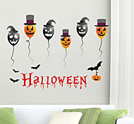 abordables -Halloween citrouille stickers muraux stickers muraux décoratifs, pvc décoration de la maison sticker mural décoration murale / amovible 30 * 90 * 2 cm