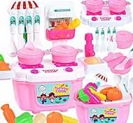 abordables -Ensemble de cuisine de jeu de 22 pièces pour enfants, kit de cuisine simulé comprenant des casseroles et des poêles, coupe de nourriture de jeu et autres accessoires d'ustensiles, jouets-cadeaux pour