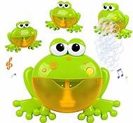 abordables -jouet de bain moussant grenouilles | machine de soufflage de bulle de comptine de musique pour enfant en bas âge | laisse bébé aimer se baigner