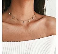 economico -collana girocollo a stella collana con ciondolo a catena con nappe in oro e argento delicata collana con ciondolo a forma di stella per donne ragazze