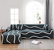 abordables -housse de canapé extensible housse de canapé couverture de canapé lignes de vagues housse de canapé imprimée housse de canapé extensible housses de canapé pour 1 ~ 4 coussin canapé avec une taie d'ore