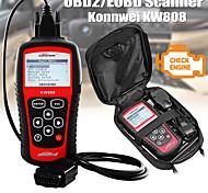 abordables -konnwei kw808 obd scanner de voiture obd2 auto automobile diagnostic scanner outil prend en charge j1850 moteur fualt code lecteur dfd