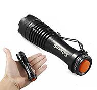 economico -mini torcia a led, super luminoso 2000 lumen zoomable q5 aa / 14500 3 modalità torcia torcia per esterno& # 40; a& # 41;