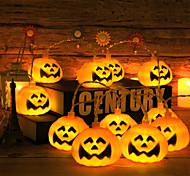 abordables -guirlandes d'halloween 10 led citrouille fantôme squelettes festival de cordes jouets d'halloween cadeaux costumes bar décoration de fête à la maison ornement d'halloween