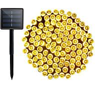 abordables -guirlandes solaires extérieures 78.7ft 240led guirlandes solaires extérieures ip65 imperméables avec 8 modes scintillent des lumières pour les arbres de jardin de patio extérieur intérieur décoration
