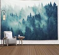 abordables -tapisserie murale art décor couverture rideau pique-nique nappe suspendu maison chambre salon dortoir décoration polyster forêt brouillard arbre vues