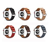 economico -Cinturino intelligente per Apple  iWatch 1 pcs Cinturino di pelle Vera pelle Sostituzione Custodia con cinturino a strappo per Apple Watch Serie SE / 6/5/4/3/2/1 Apple Watch  6 / SE / 5/4/3/2/1