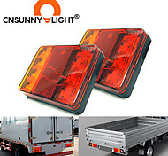 abordables -cnsunnylight voiture camion 8 led feux arrière feux d'avertissement feux arrière feux arrière étanches pièces de feux arrière pour caravanes de remorque dc 12v 24v 3 en 1