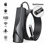 abordables -Caméra Endoscope WiFi 8mm Endoscope Wifi étanche 1080P HD Caméra d'inspection double pour Android iPhone IOS avec 8 LED Fil Dur 3M