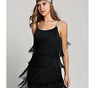 economico -Il grande Gatsby Charleston 1920s Vintage ▾ Stile anni '20 vestito da vacanza Estate Vestito del flapper Vestito da Serata Elegante Stile Carnevale di Venezia Abito da ballo Per donna Nappa Costume