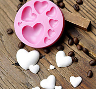 economico -Stampo fondente in silicone a forma di cuore amorevole fai da te colorato cuore dolce pasta di cioccolato caramelle stampo strumento di decorazione torta
