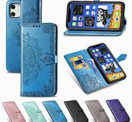 economico -telefono Custodia Per Apple Integrale Custodia in pelle Custodia flip iPhone 12 Pro Max 11 SE 2020 X XR XS Max 8 7 Porta-carte di credito Con chiusura magnetica Decorazioni in rilievo Tinta unica