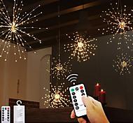 abordables -120 LED scintillent Starburst feux d'artifice guirlandes pour le festival de vacances lumières de décoration intérieure extérieure de Noël