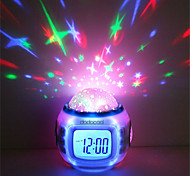 economico -1 pz musica sveglia sky proiettore luce staycation per bambini regalo di compleanno che cambia colore (non includere le batterie)