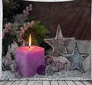 abordables -noël mur tapisserie art décor couverture rideau pique-nique nappe suspendu maison chambre salon dortoir décoration polyester bougie étoile cadeau