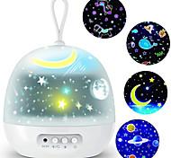 abordables -veilleuse projecteur délicatesse 4 films ensembles 360 rotatif 8 modes d'éclairage LED veilleuses lampe pour enfants décoration de chambre de bébé