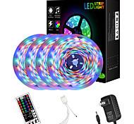 abordables -ZDM 65ft 4 x 5 mètres 2835 RGB LED bande de lumière flexible avec quatre connecteurs intégré nouveau contrôleur de clé IR44 et kit d'adaptateur DC12V