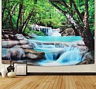 abordables -tapisserie murale art décor couverture rideau pique-nique nappe suspendu maison chambre salon dortoir décoration polyester forêt arbre rivière pierre vue