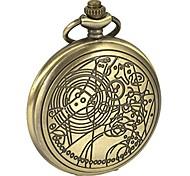 economico -orologio da tasca dottore confessione quadrante modello dr. che uomini catena al quarzo con cassa nera antica